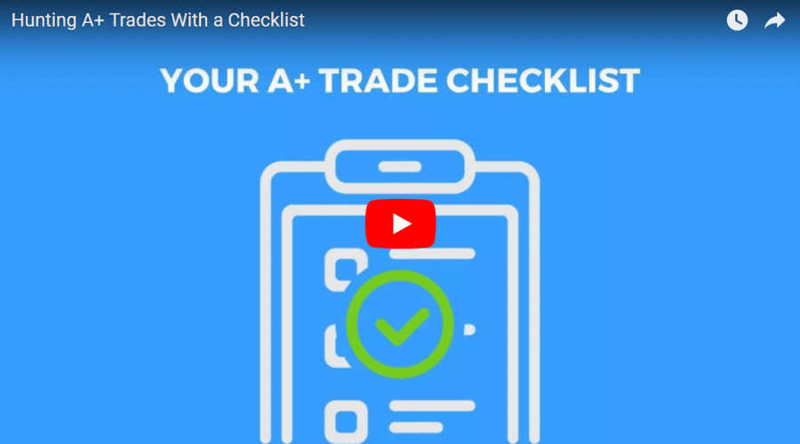Make Sure You Are Hunting A+ Trades With a Checklist